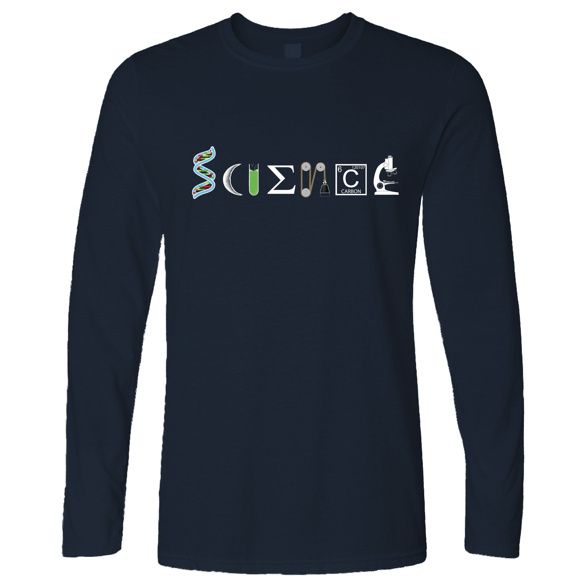 The Word Science Long Sleeve Made From Scientific Things T-Shirt