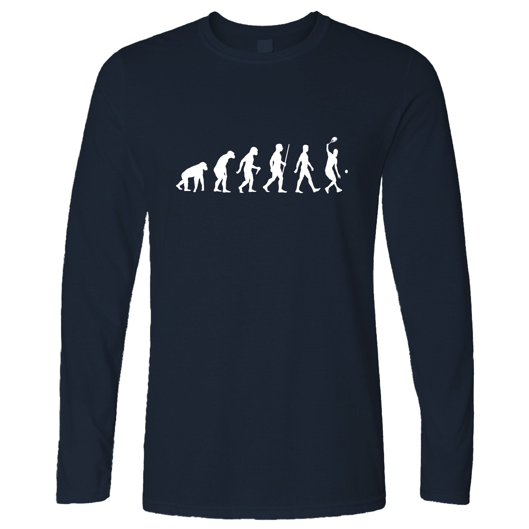 Sports Long Sleeve Evolution Of A Tennis Player T-Shirt