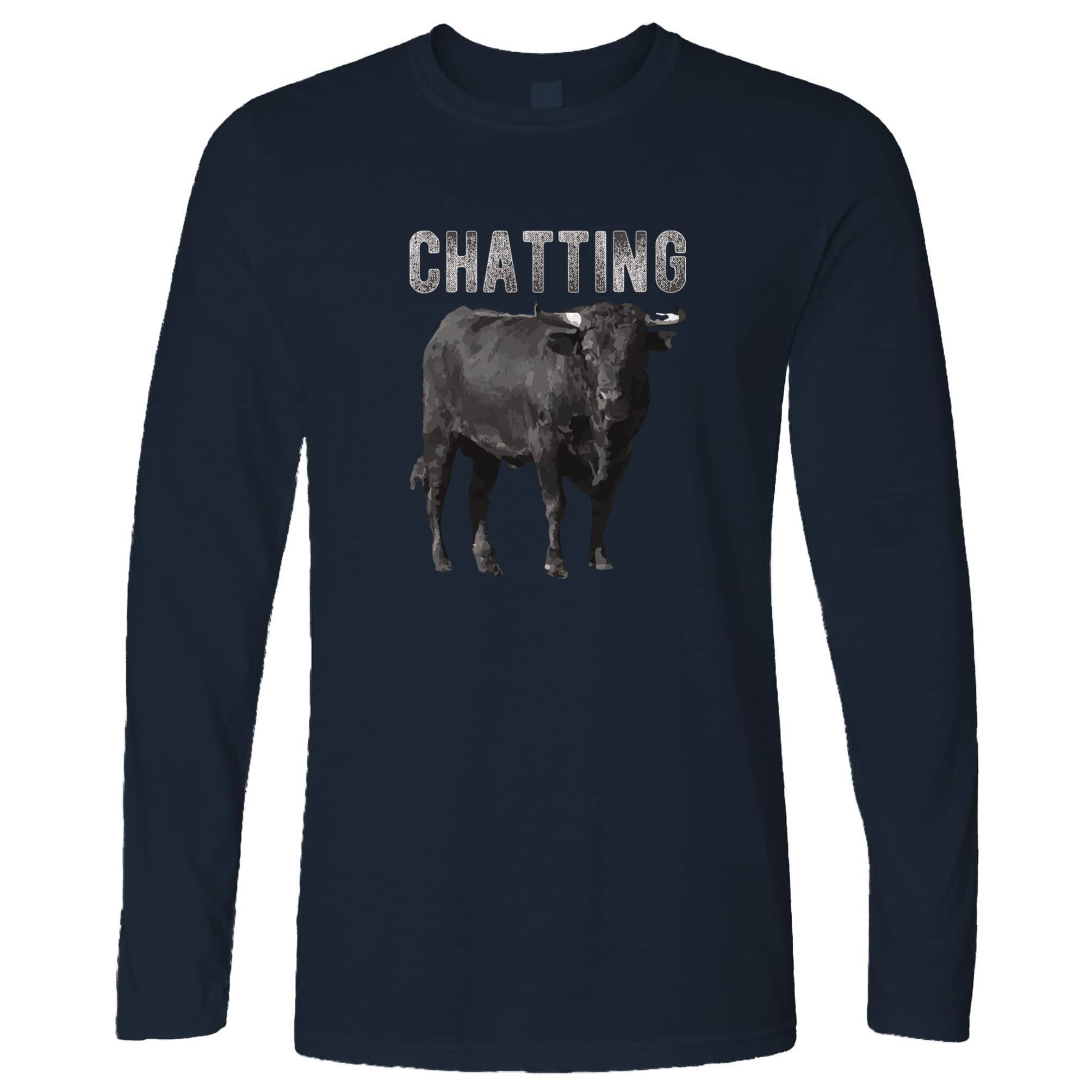 Bull Ox Long Sleeve Chatting Bullocks Joke T-Shirt