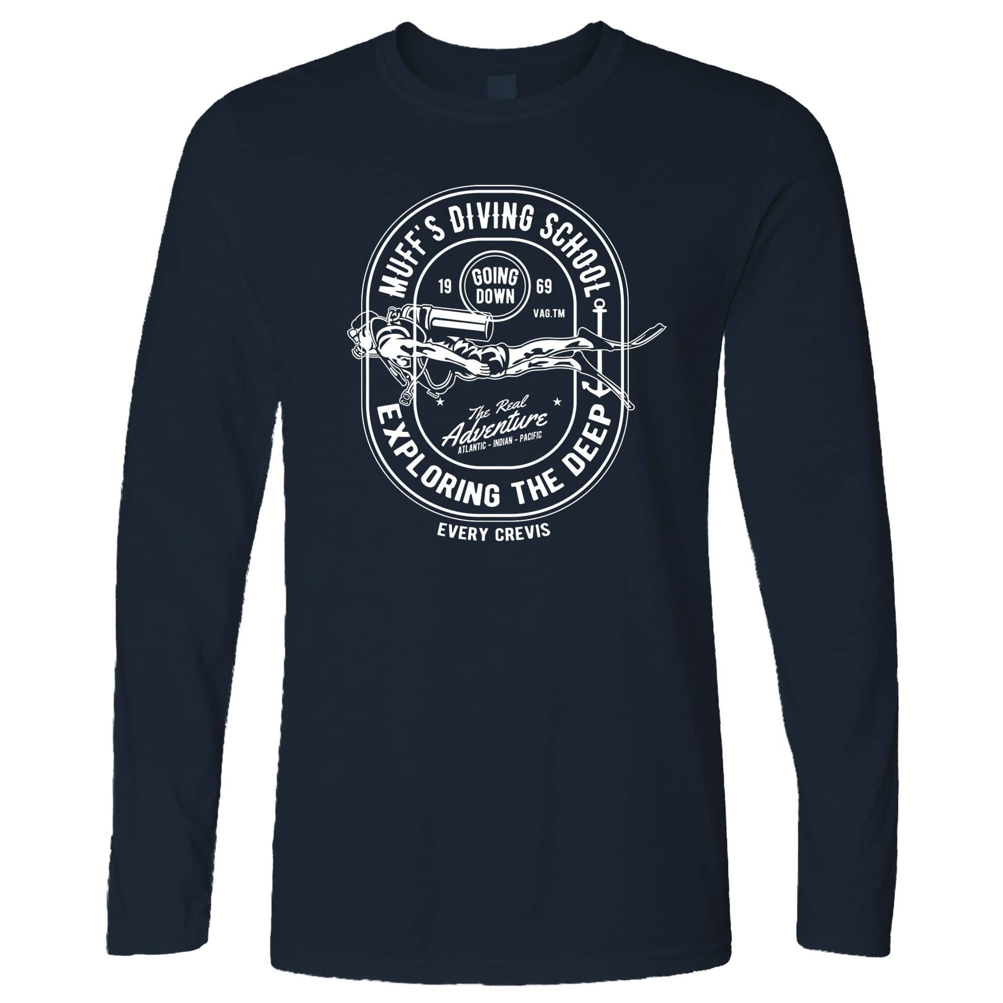 Diving School Long Sleeve The Real Adventure Logo