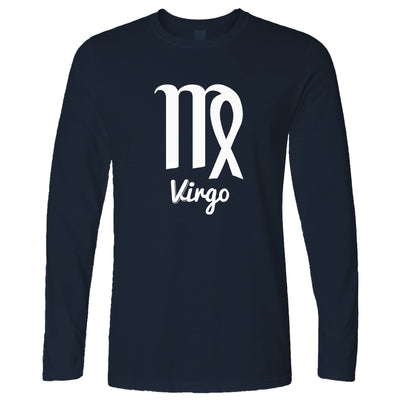 Horoscope Long Sleeve Virgo Zodiac Star Sign Birthday T-Shirt