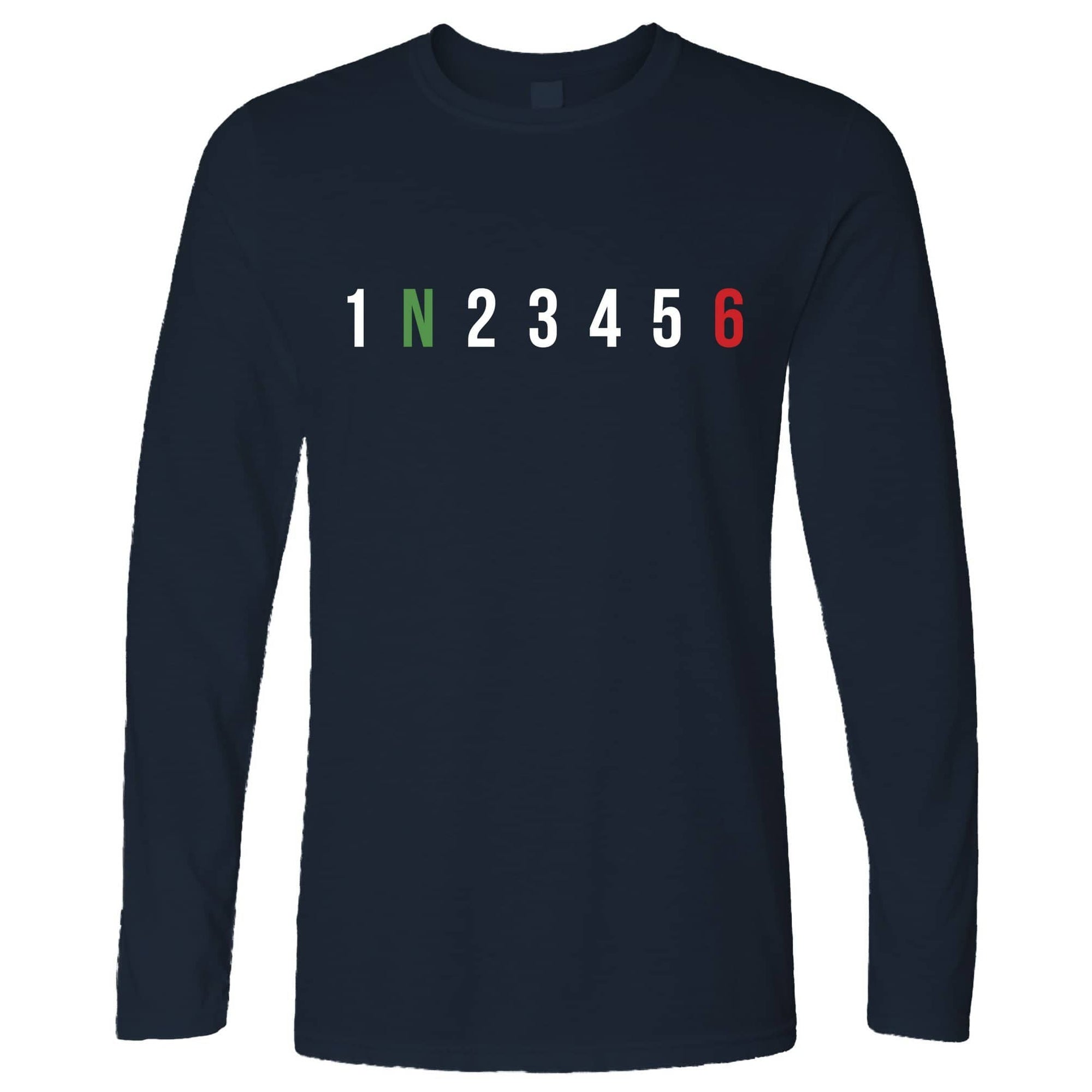 Biking Long Sleeve 1 N 2 3 4 5 6 Motorbike Gears T-Shirt
