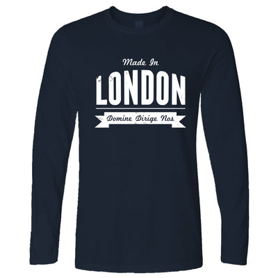 Hometown Pride Long Sleeve Made in London Banner T-Shirt