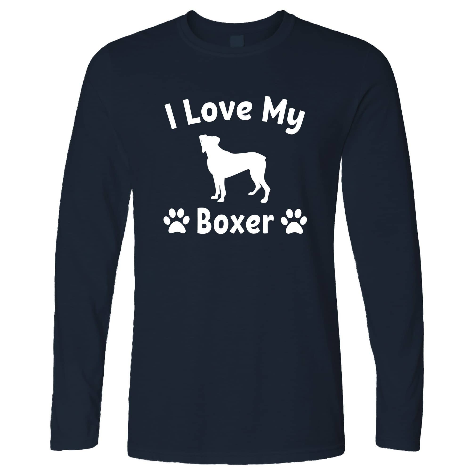Dog Owner Long Sleeve I Love My Boxer Dog Owner T-Shirt
