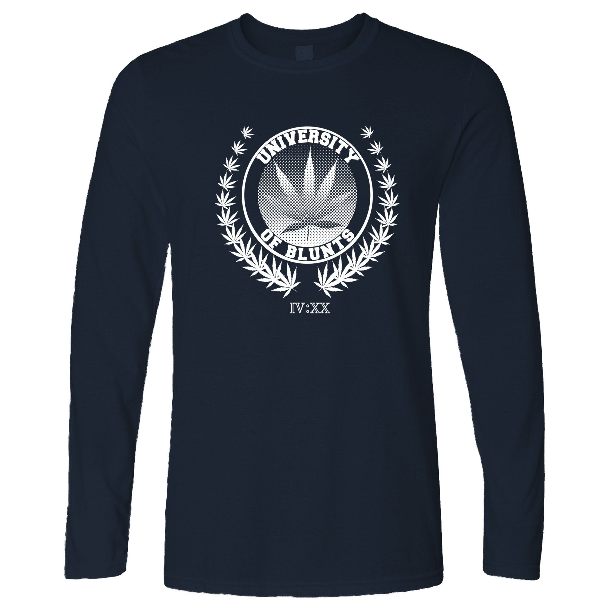 Stoner Long Sleeve University of Blunts IV:XX 420 Logo T-Shirt
