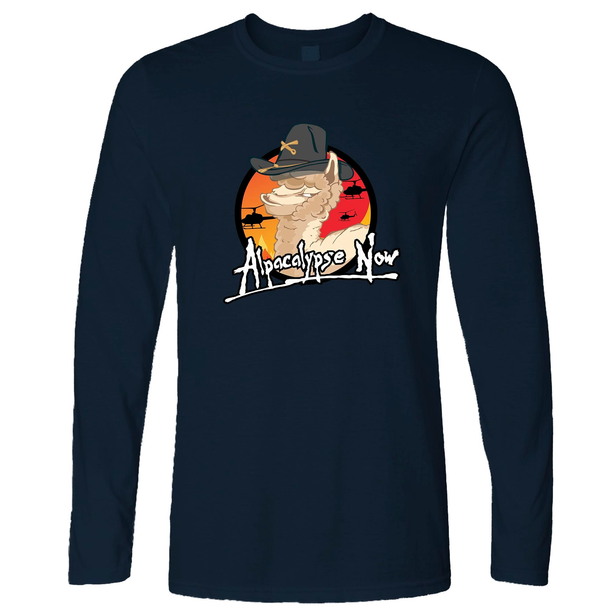 Film Parody Long Sleeve Alpacalypse Now Alpaca Vegan T-Shirt