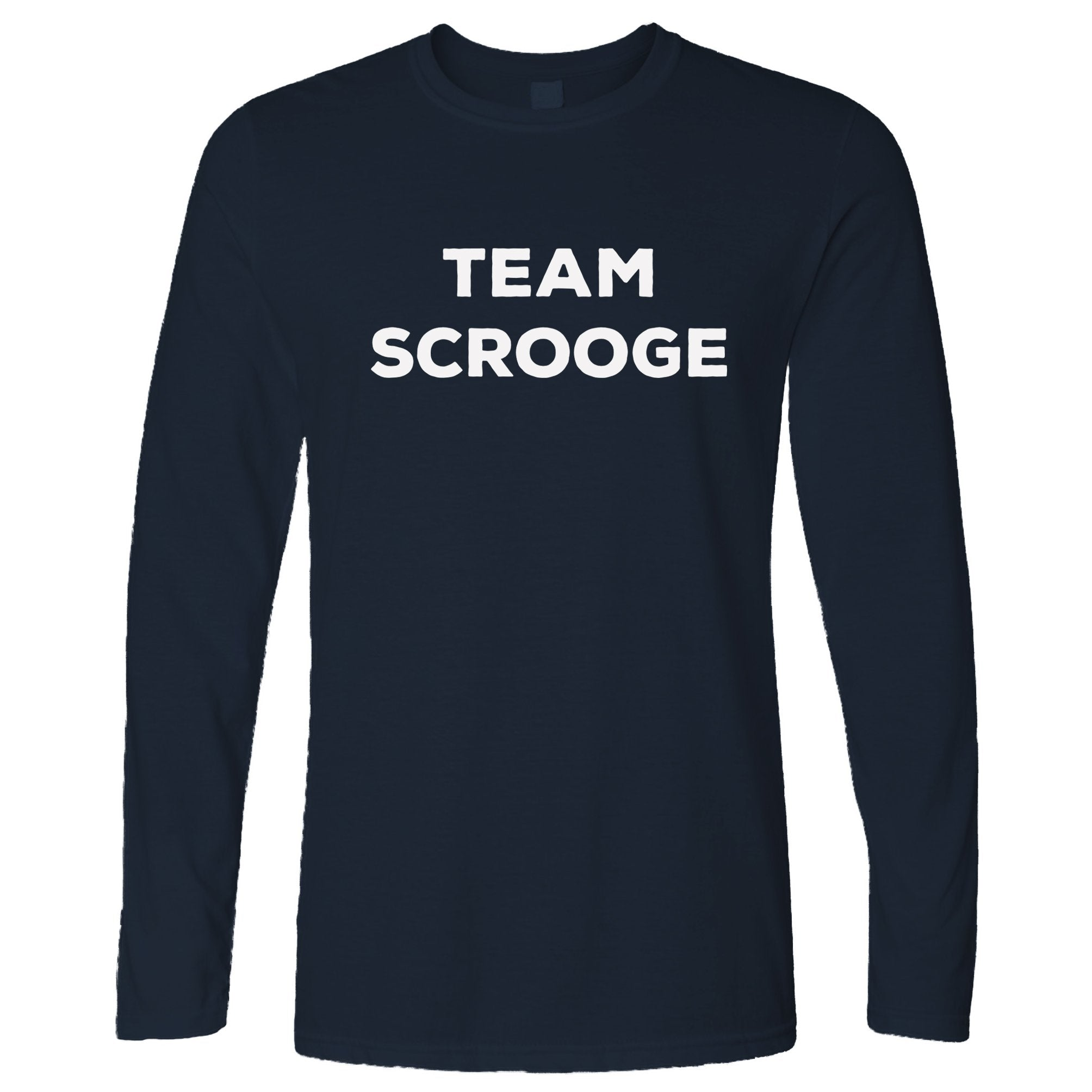 Novelty Anti-Christmas Long Sleeve Team Scrooge Slogan T-Shirt