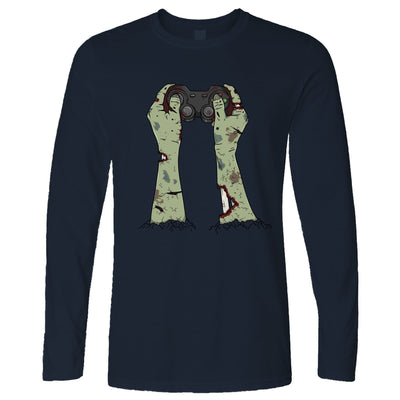 Halloween Gaming Long Sleeve Zombie Gamer With Controller T-Shirt