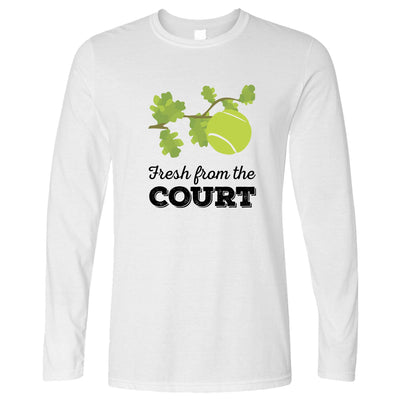 Tennis Long Sleeve Fresh From The Court Slogan T-Shirt