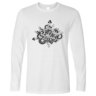 Adult Colouring T-Shirt Abstract Arrows, Colour yourself (With Pens)