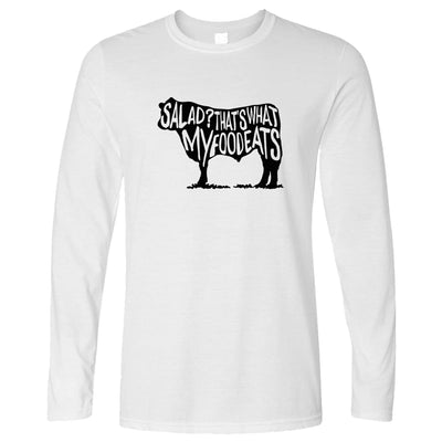 Novelty Long Sleeve Salad? That's What My Food Eats Slogan T-Shirt