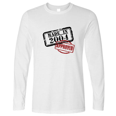 16th Birthday Long Sleeve Distressed Made in 2004 Approved T-Shirt