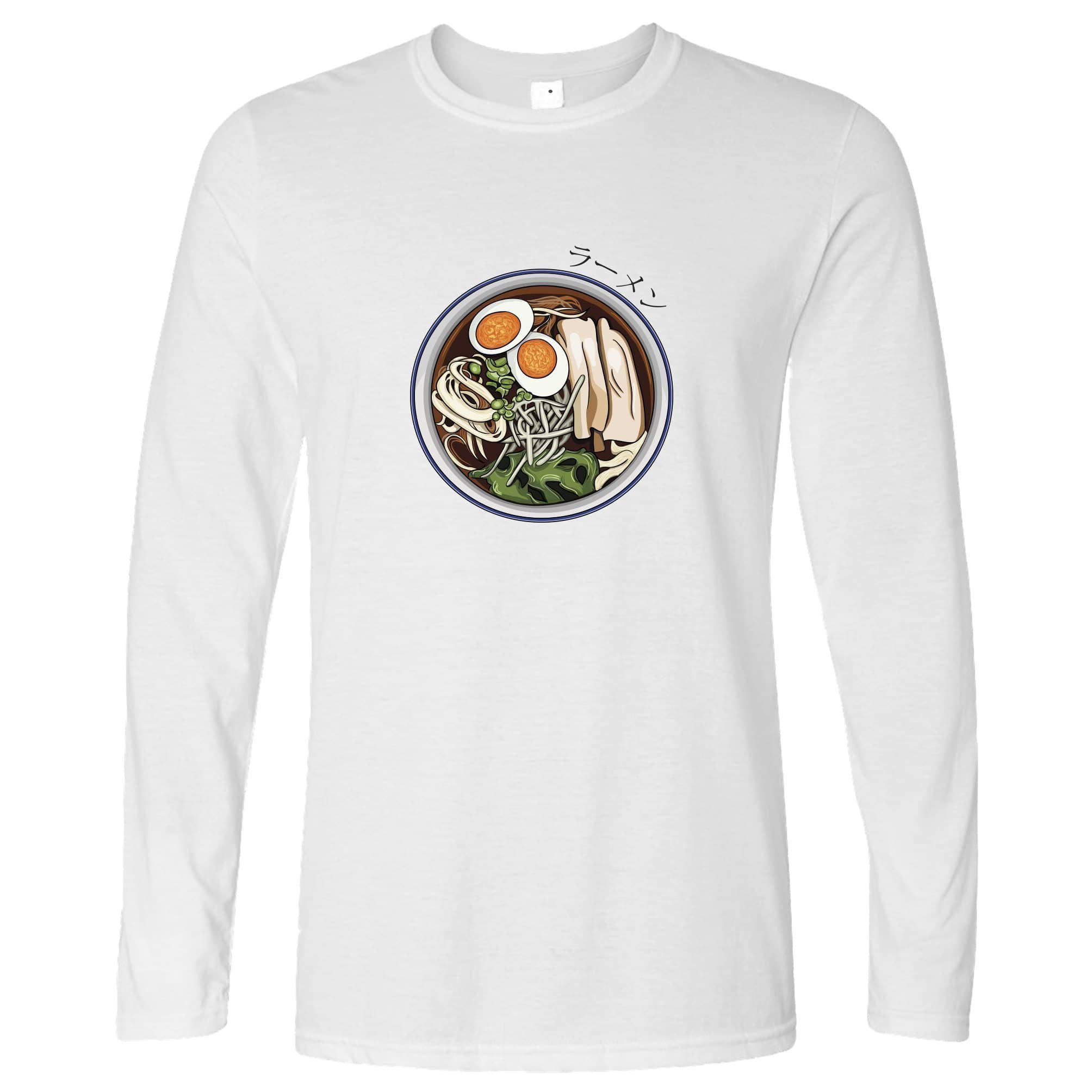 Ethnic Food Long Sleeve Ramen Noodles And Japanese Text T-Shirt
