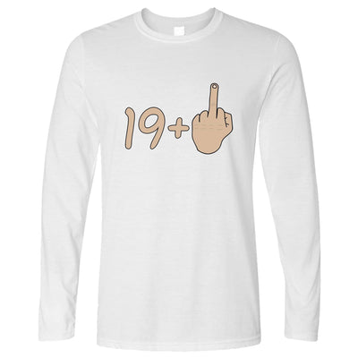 20th Birthday Long Sleeve 19 plus 1 gesture T-Shirt