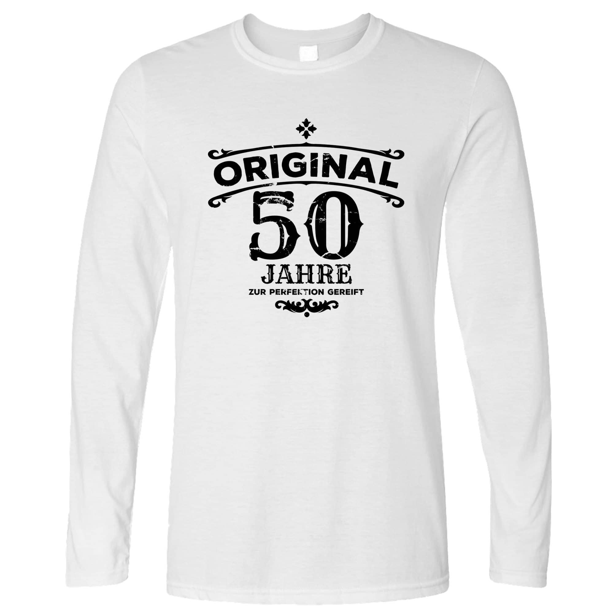 50th Birthday Long Sleeve Original Aged 50 Fifty Years T-Shirt