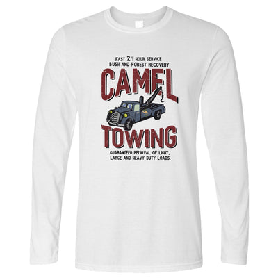 Novelty Mechanic Long Sleeve Camel Towing Car Recovery T-Shirt