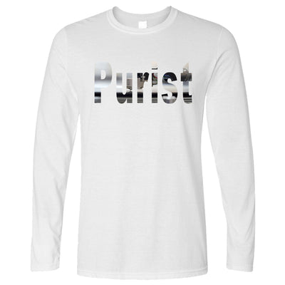 Old School DJ Long Sleeve Purist With Record Player T-Shirt