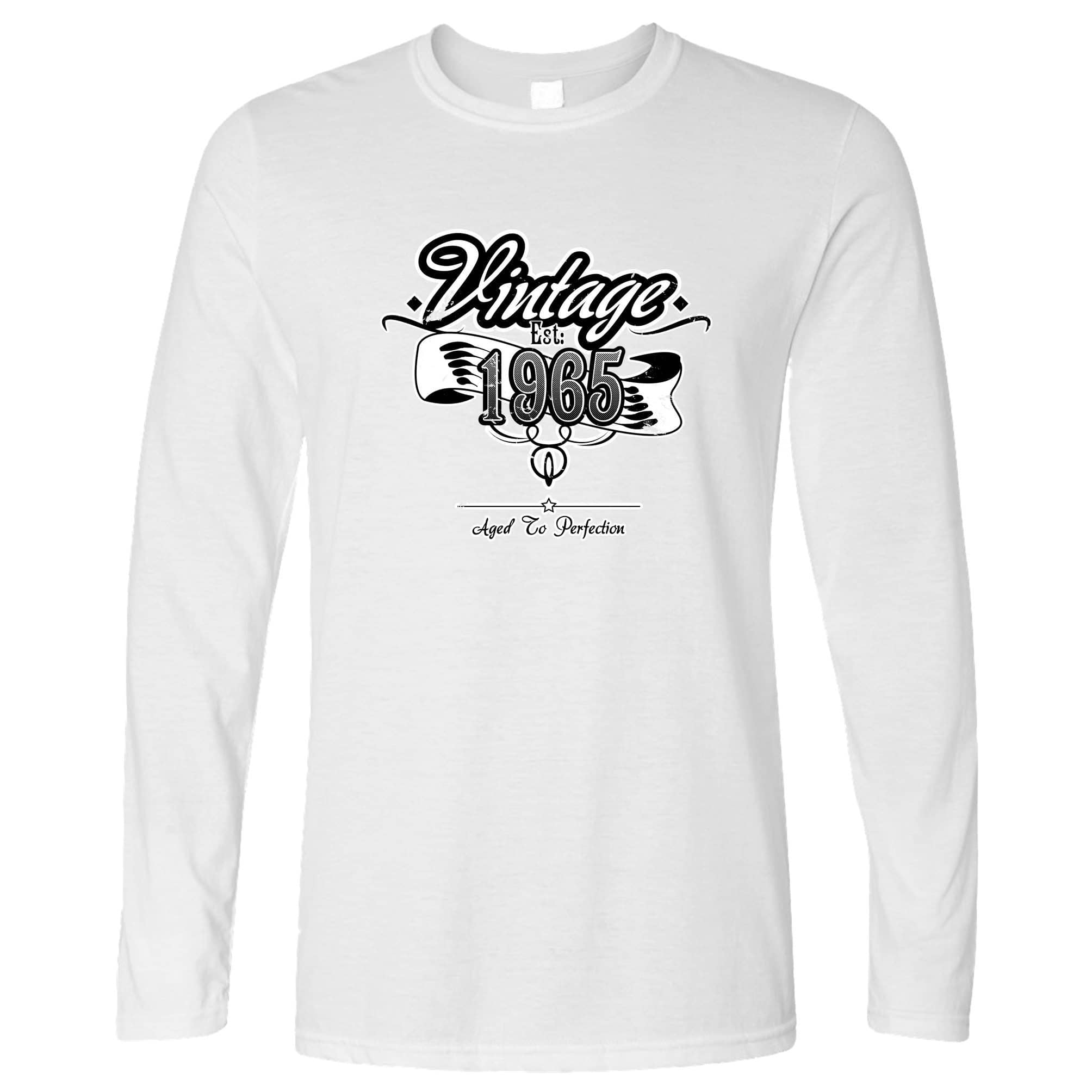 Birthday Long Sleeve Vintage Est. 1965 Aged To Perfection T-Shirt