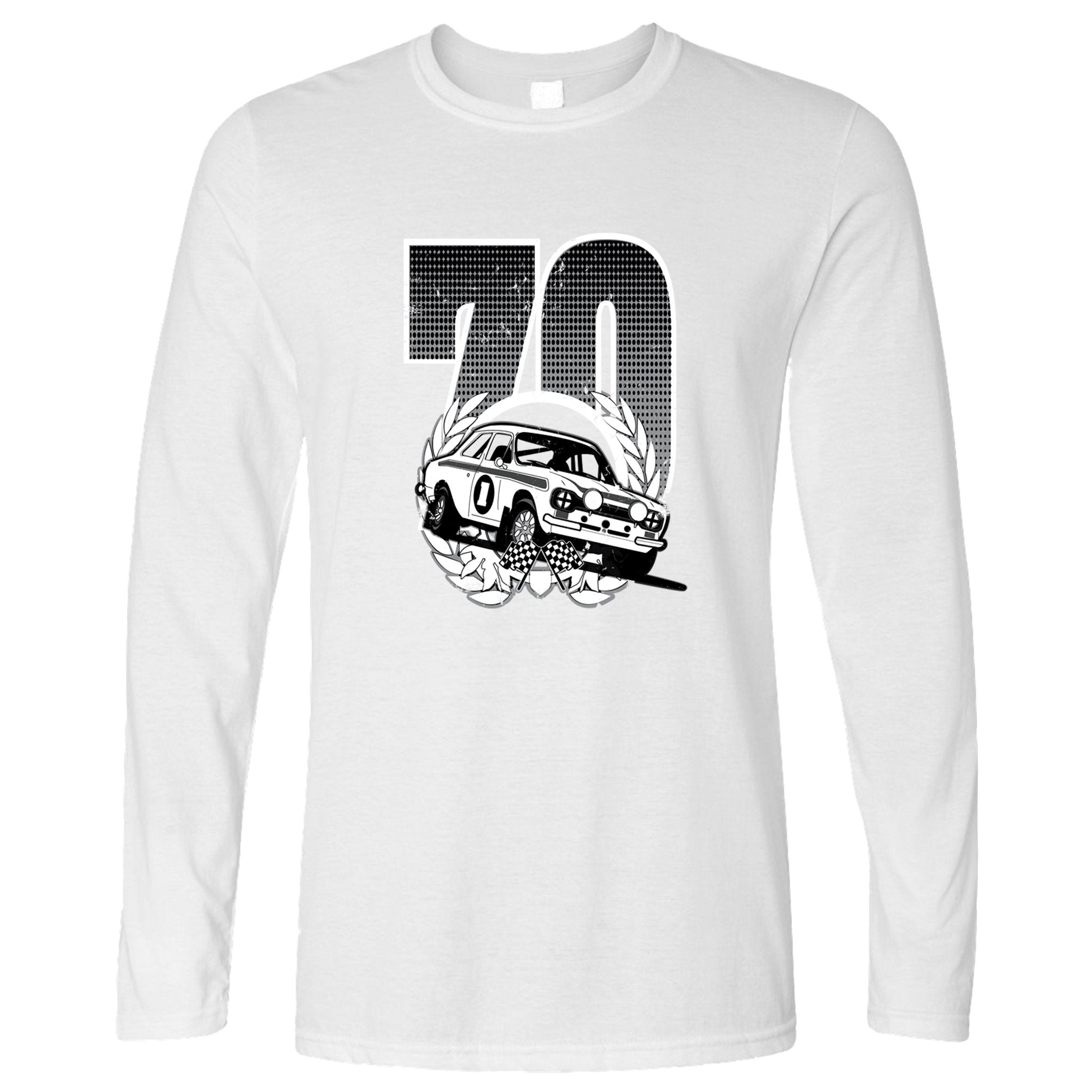 Racing Long Sleeve Classic Rally Car Retro 70 T-Shirt
