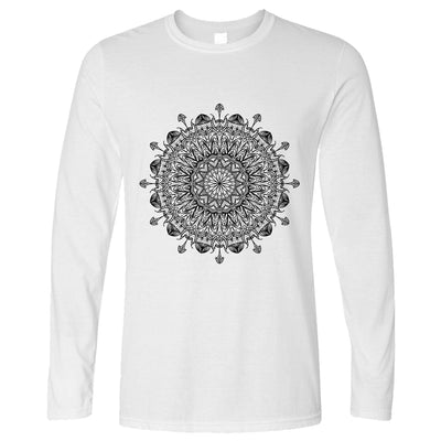 Summer Art Long Sleeve Indian Mandala Pattern Design T-Shirt