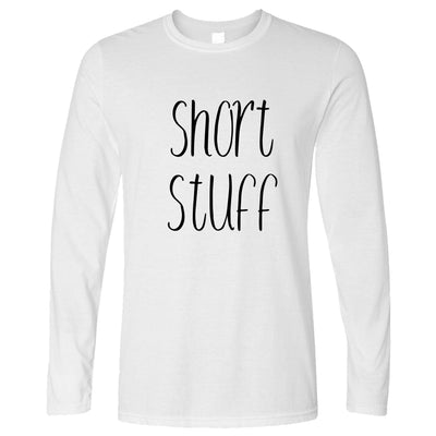 Height Joke Long Sleeve Short Stuff Novelty Slogan T-Shirt