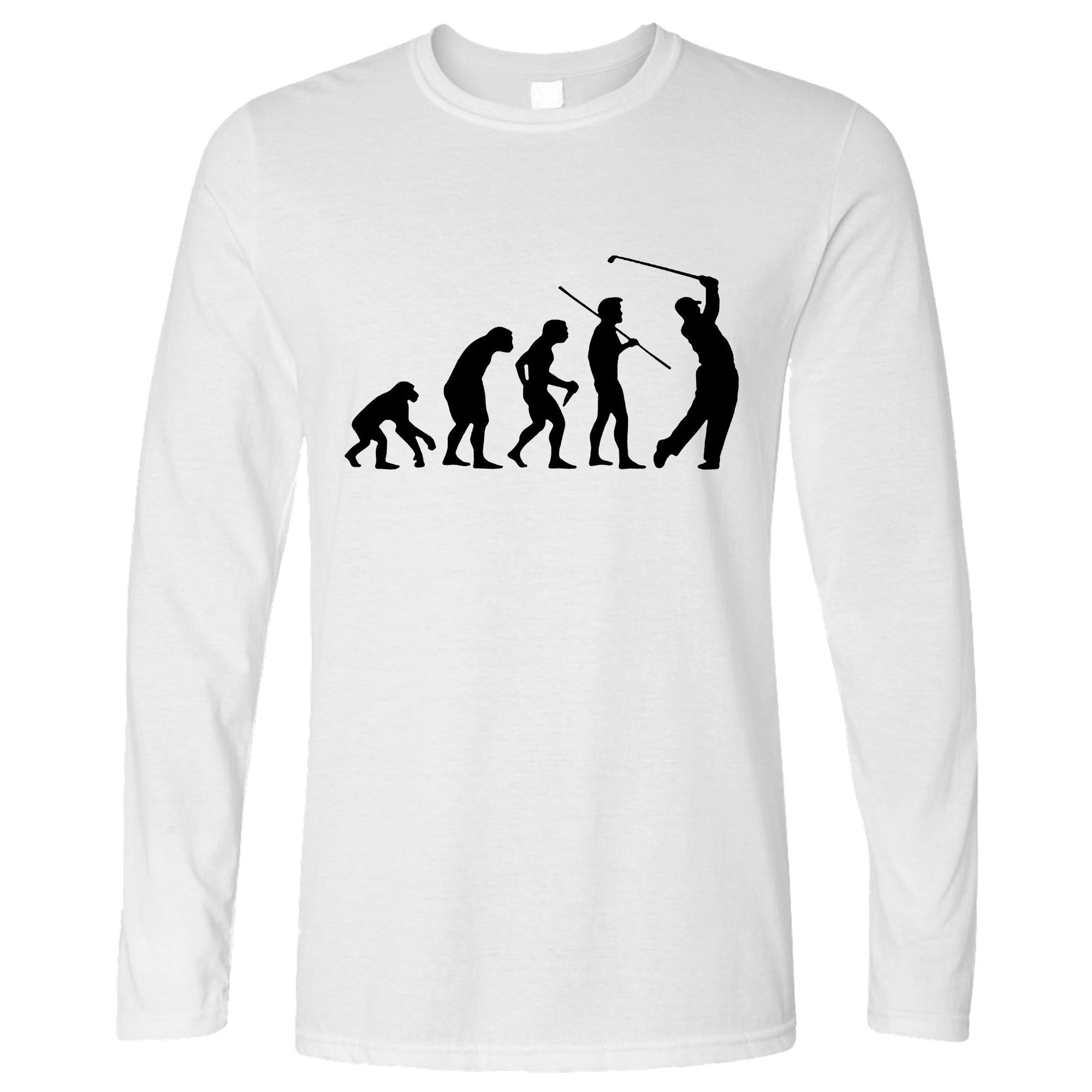 Novelty Golf Long Sleeve Evolution Of A Golfer T-Shirt