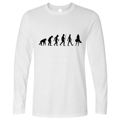 Joke Long Sleeve The Evolution of Shopping T-Shirt