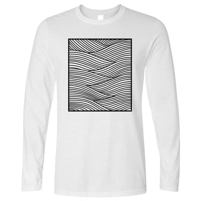Adult Colouring T-Shirt Wavey Abstract, Colour yourself (With Pens)