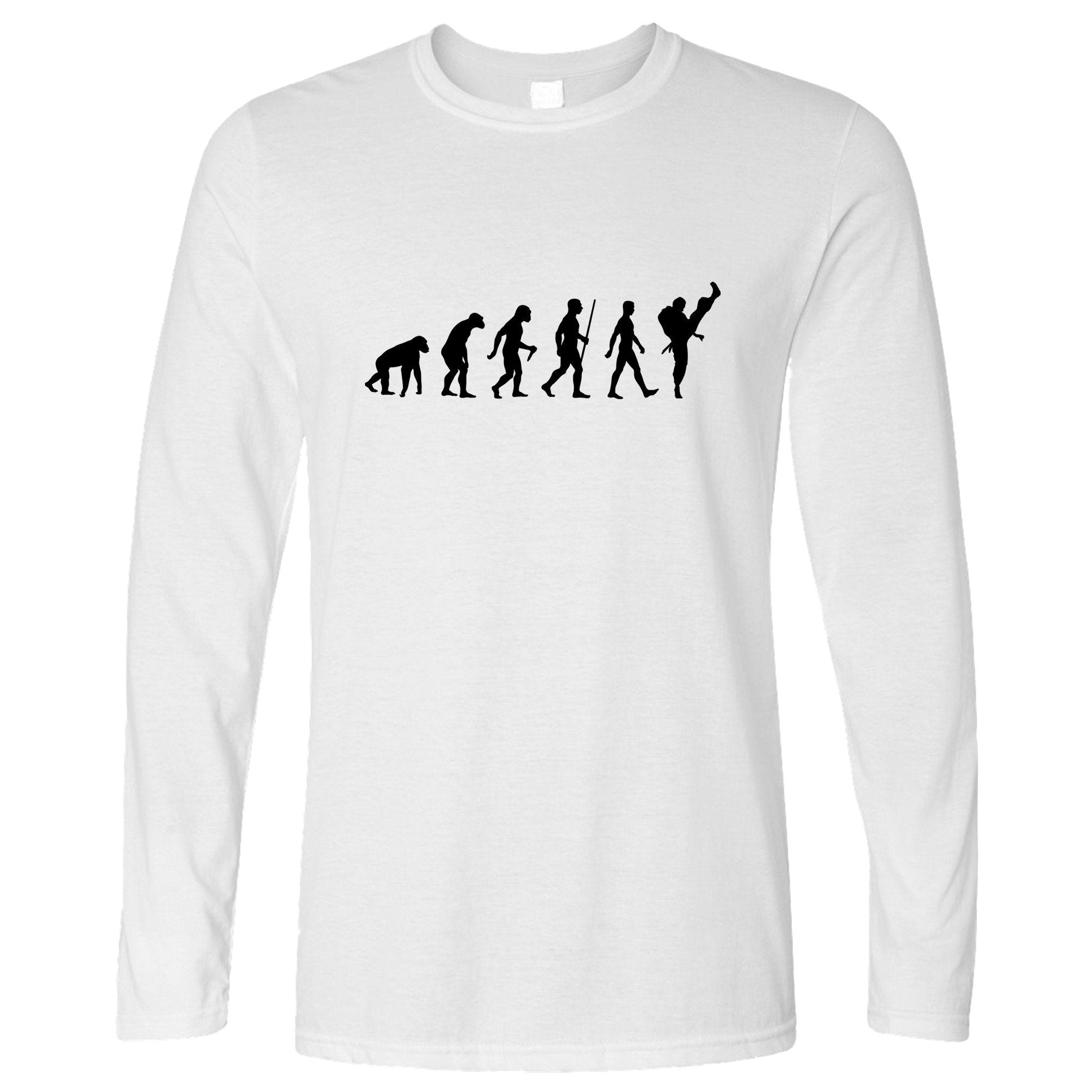 Martial Arts Long Sleeve The Evolution Of Karate T-Shirt