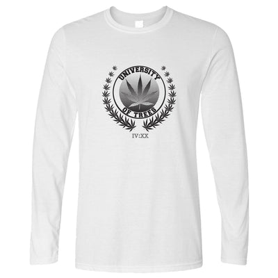 Stoner Long Sleeve University of Trees IV:XX 420 Logo T-Shirt