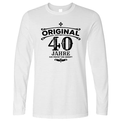 40th Birthday Long Sleeve Original Aged Forty 40 Years T-Shirt