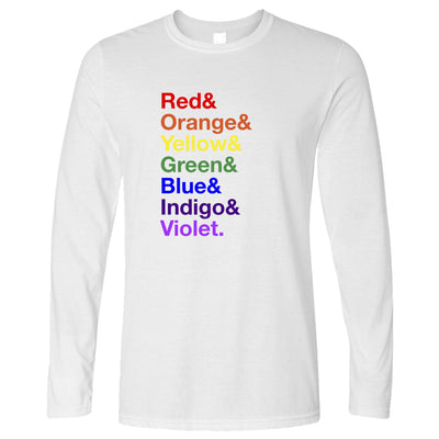 LGBTQ Long Sleeve The Colours of the Rainbow T-Shirt