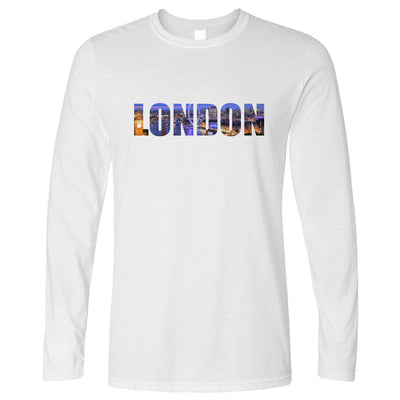 Tourist Long Sleeve City Of London At Night Text Cutout