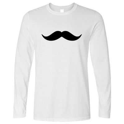 Trendy Long Sleeve Simple Moustache Shape T-Shirt