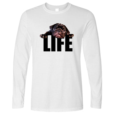 Cute Dog Long Sleeve Pug Life Puppy T-Shirt