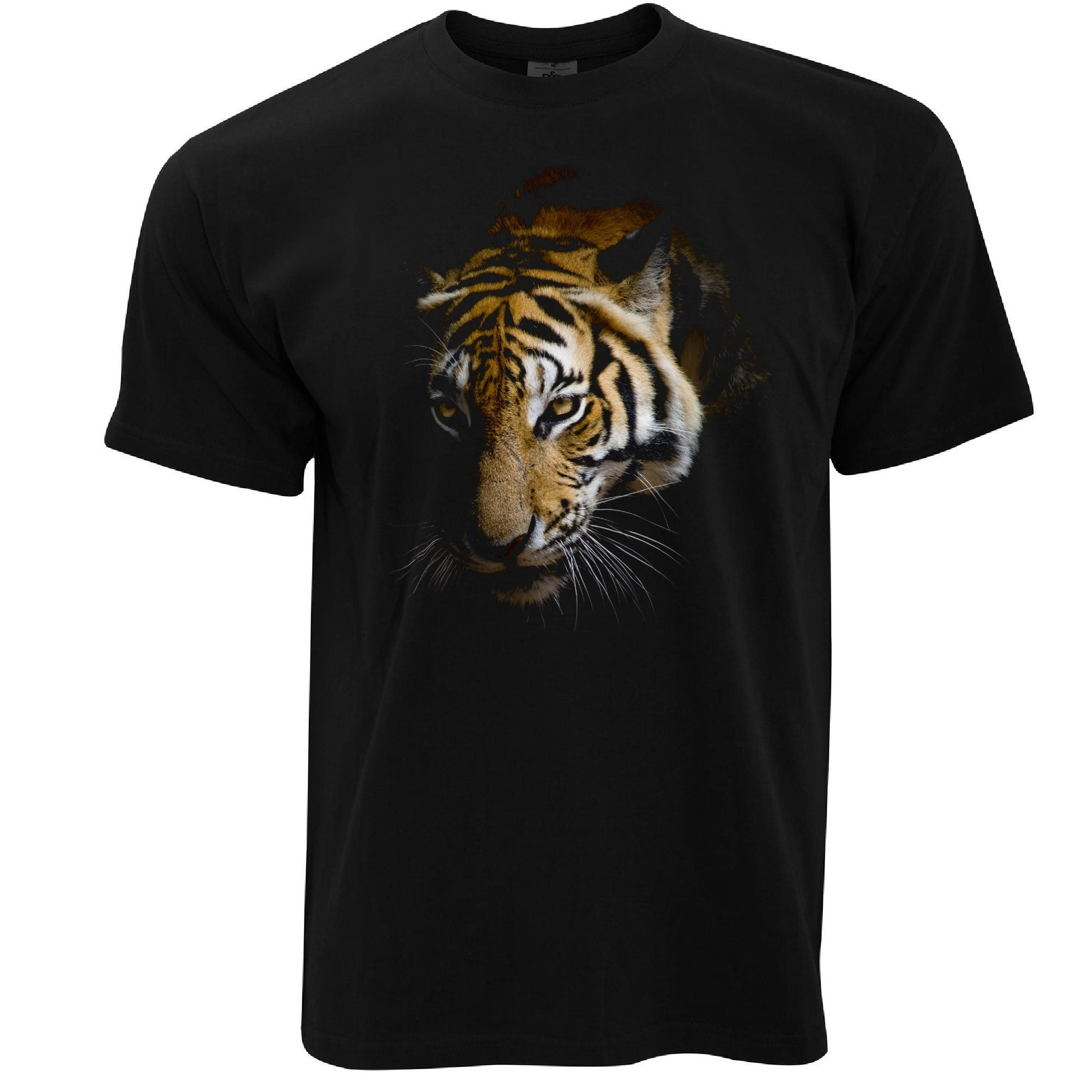 Tiger T Shirt Photographic Animal Head