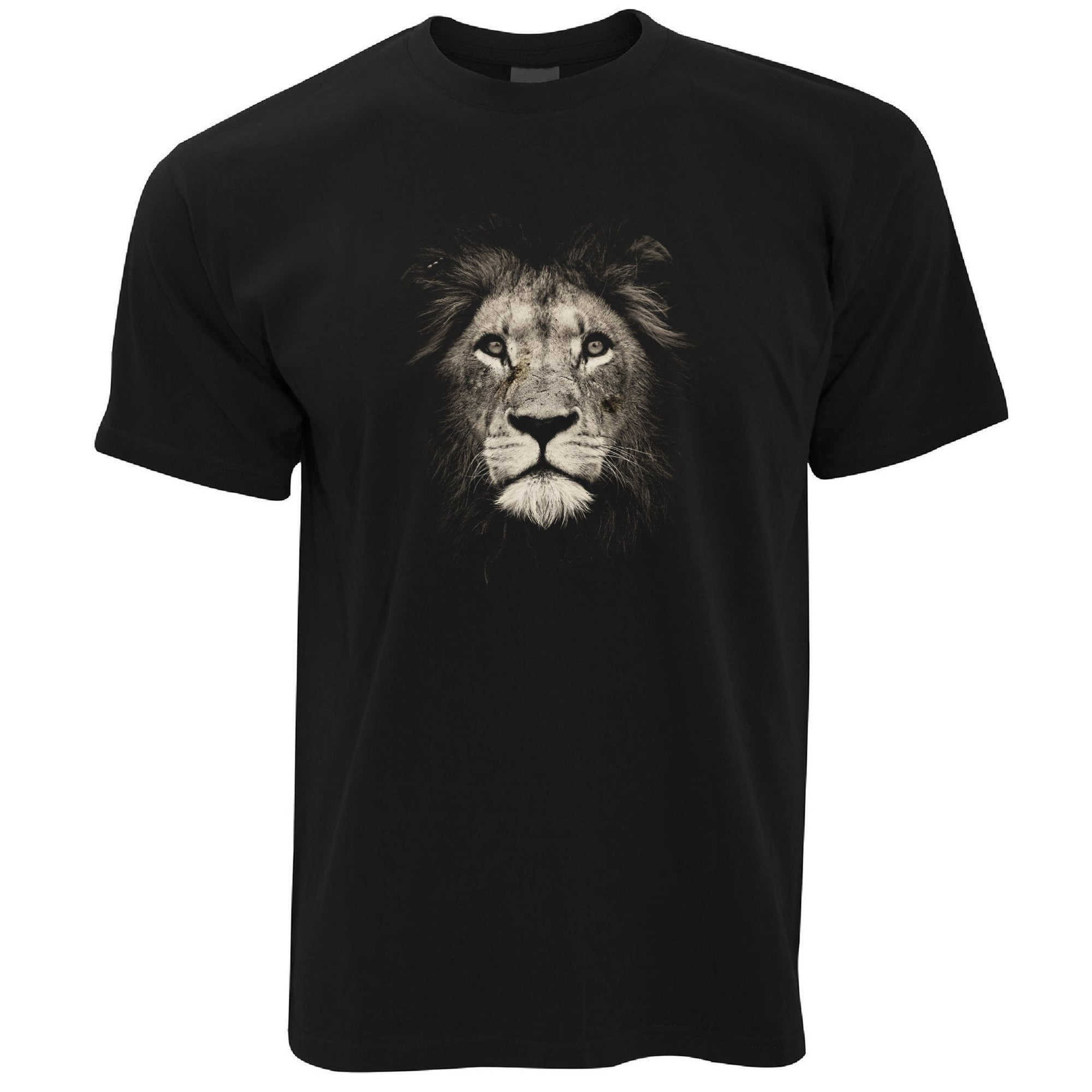 Stylish Animal T Shirt Photographic Lion Face Design