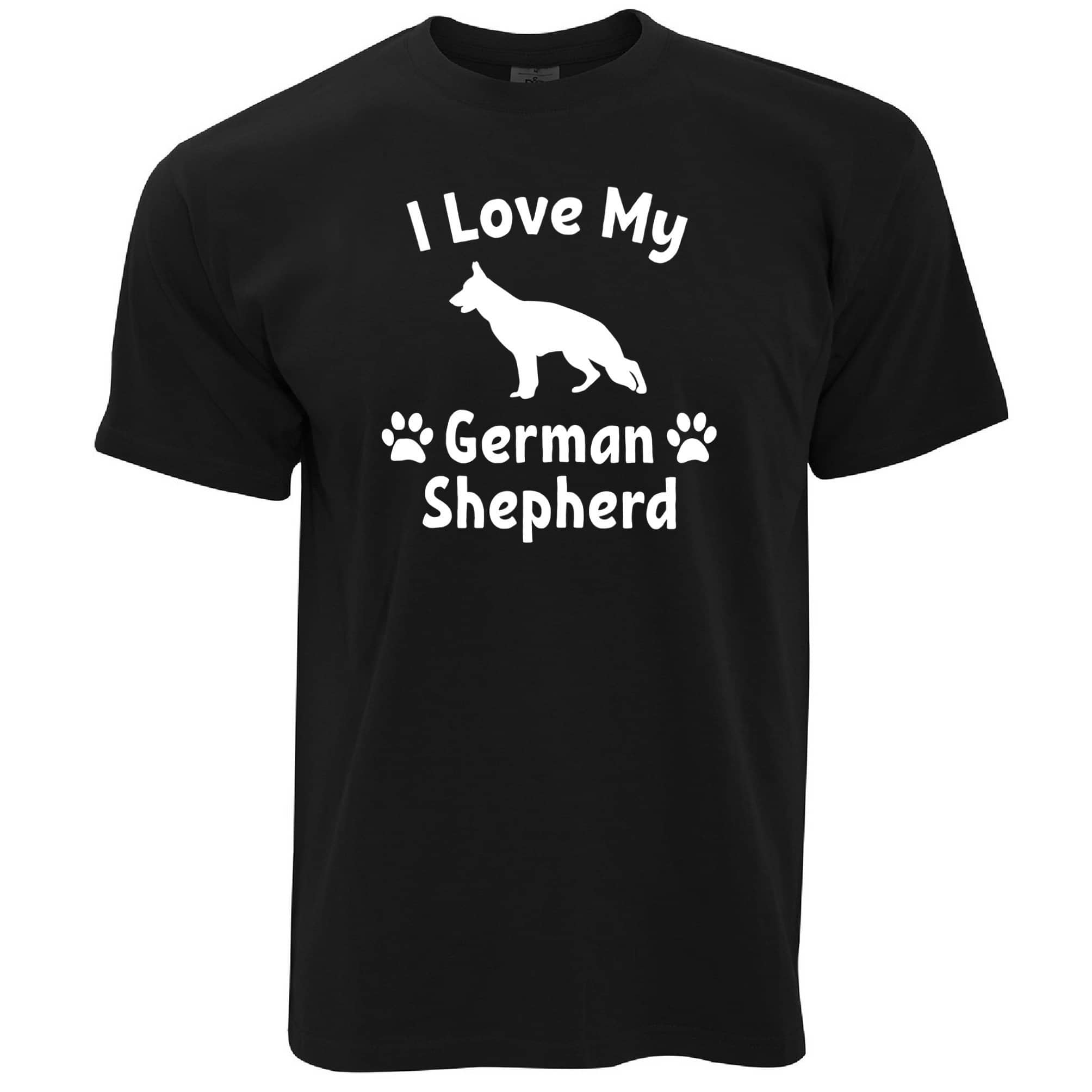Dog Owner T Shirt I Love My German Shepherd