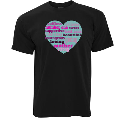 Mother's Day T Shirt Heart Of Mum Mom