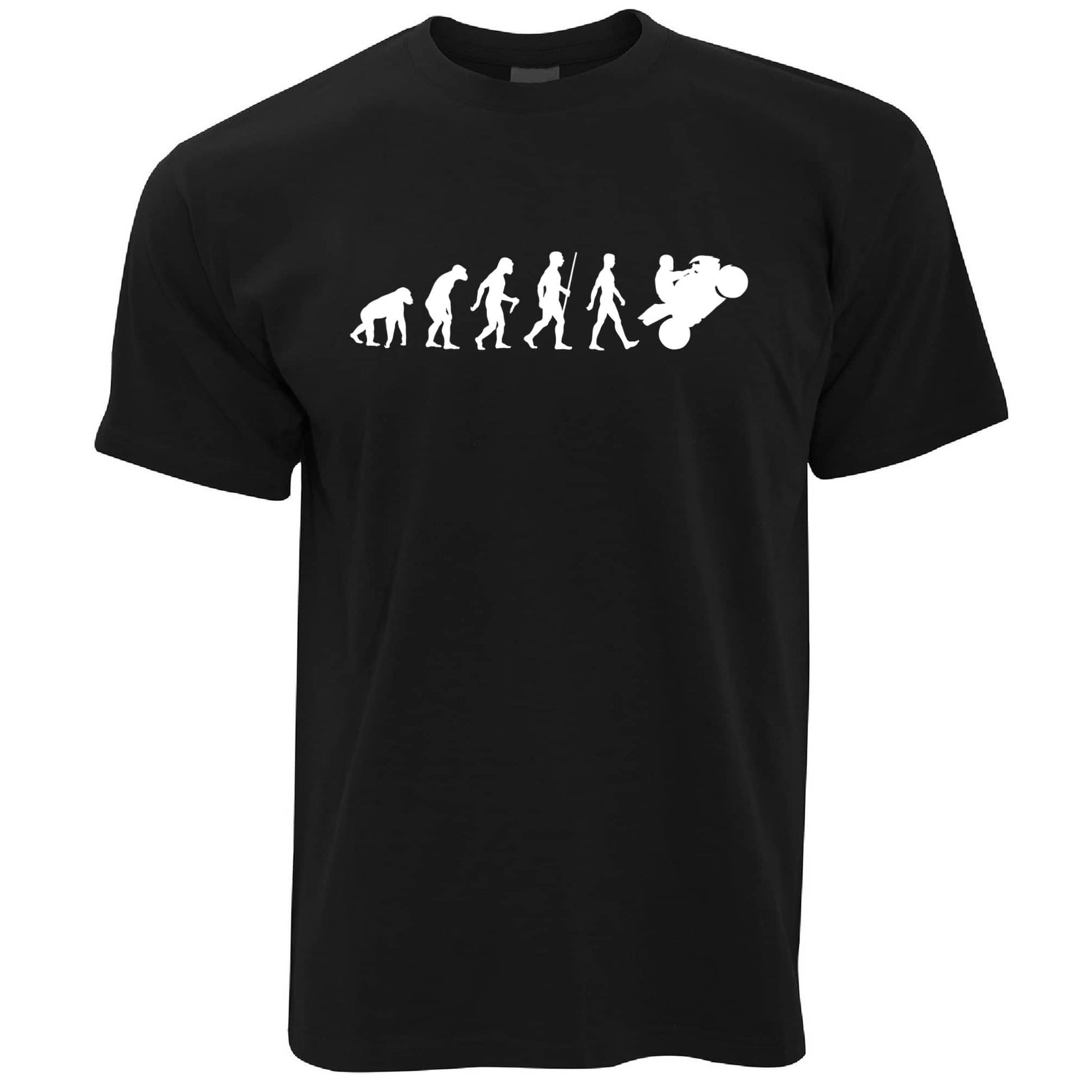 Evolution of a Biker Motorcyclist T-shirt in Black
