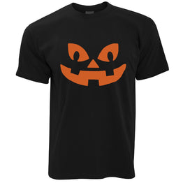 Halloween T Shirt Negative Space Pumpkin Face