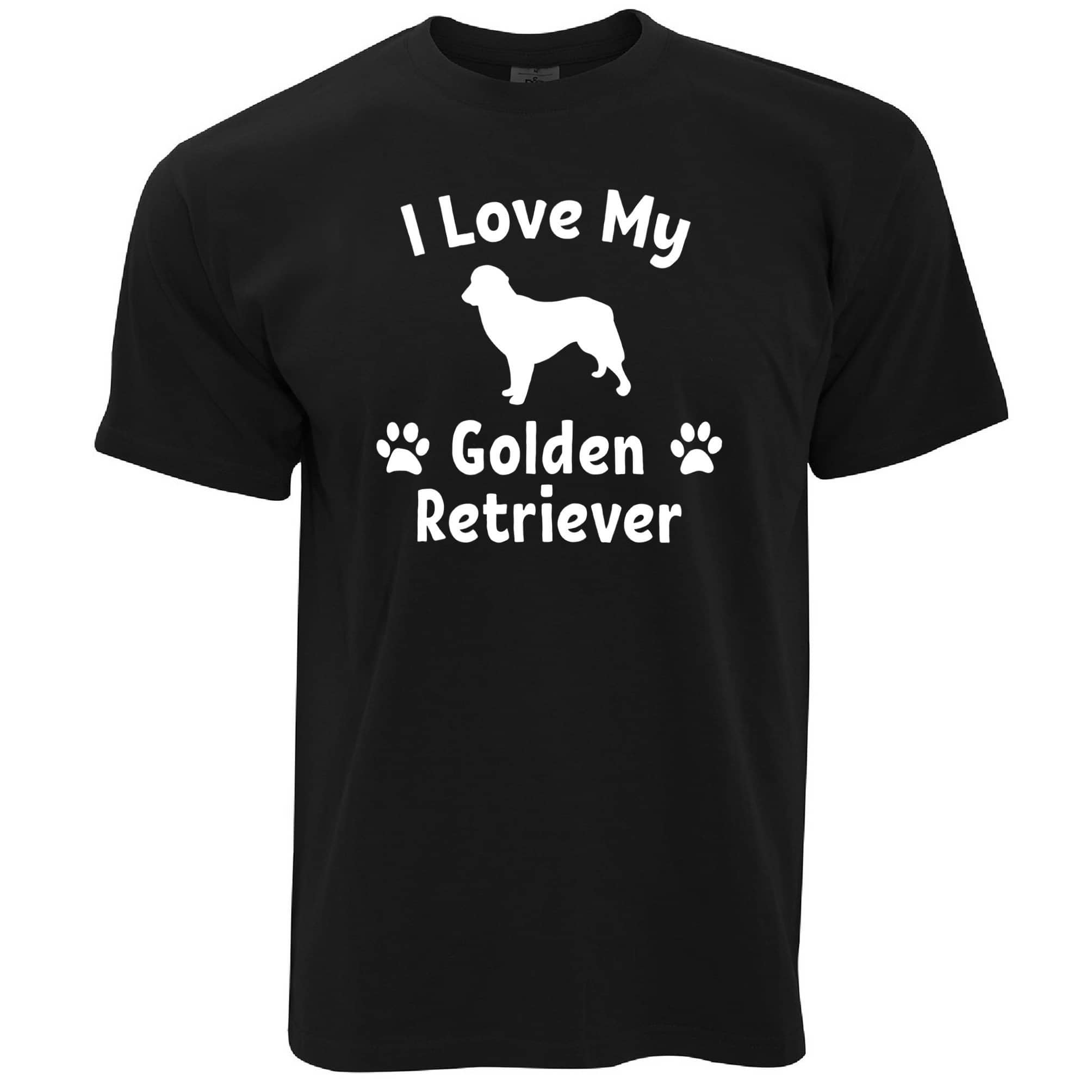Dog Owner T Shirt I Love My Golden Retriever