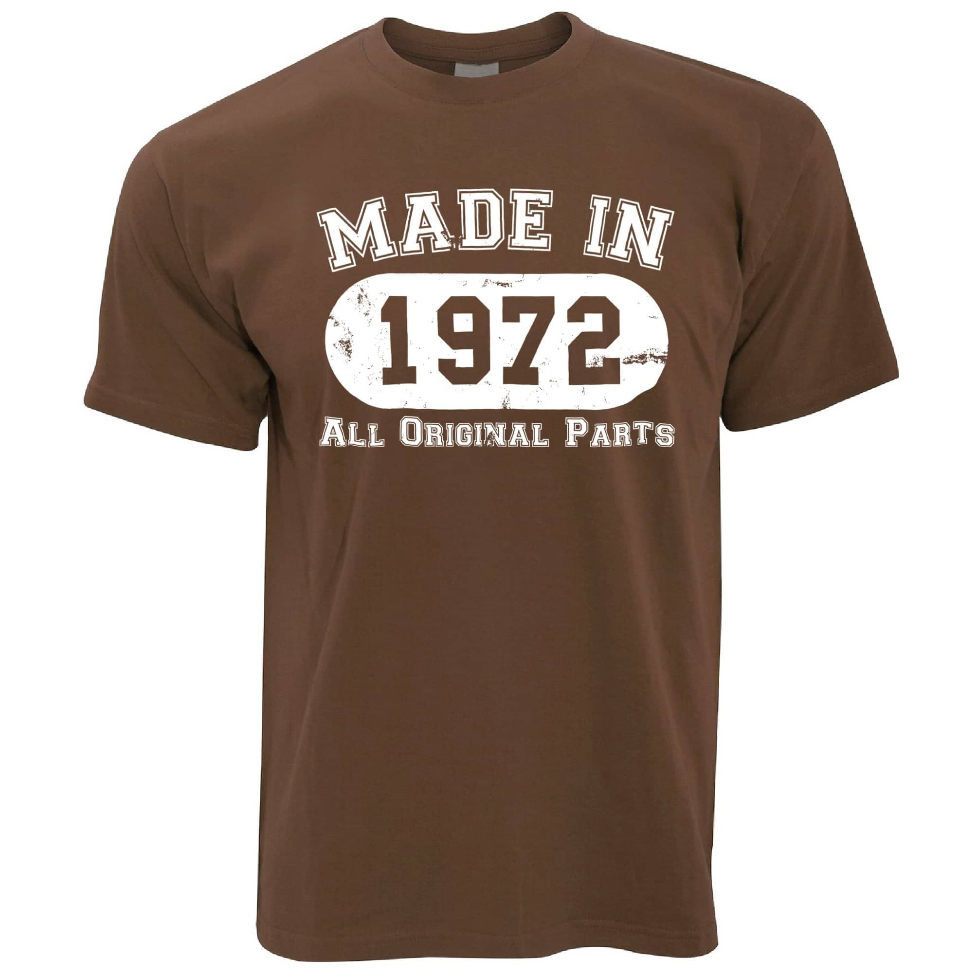 Made in 1972 All Original Parts Mens T-Shirt [Distressed]