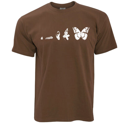 Nature T Shirt Evolution Of A Caterpillar To Butterfly
