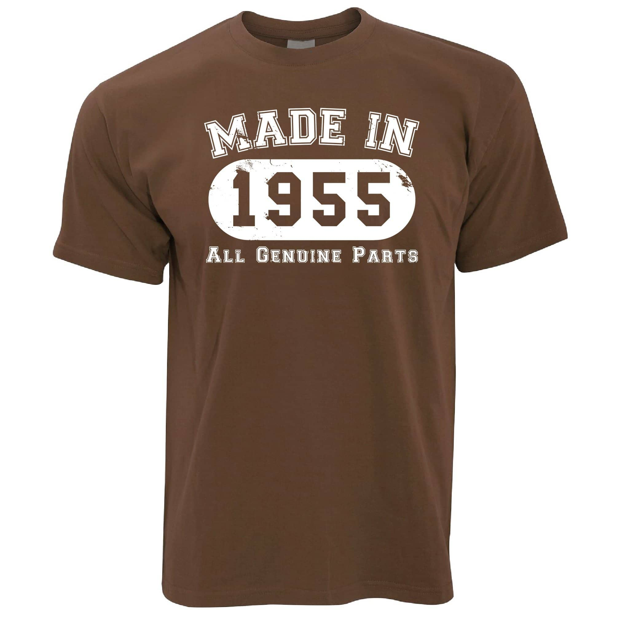 Birthday T Shirt Made in 1955 All Genuine Parts