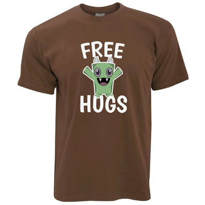 Festival T Shirt Free Hugs Slogan With Cute Monster