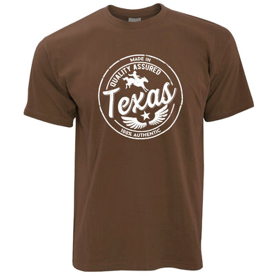 Hometown Pride T Shirt Made in Texas Stamp