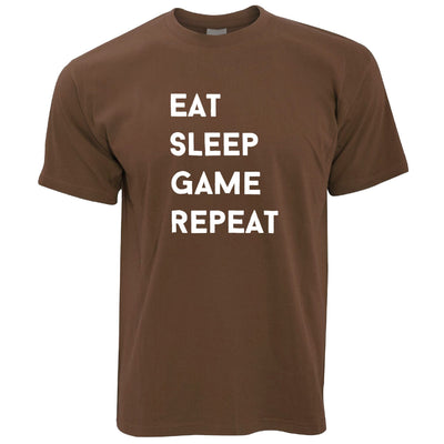Nerd T Shirt Eat, Sleep, Game, Repeat Slogan
