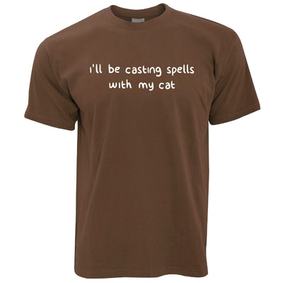 Halloween T Shirt I'll Be Casting Spells With My Cat