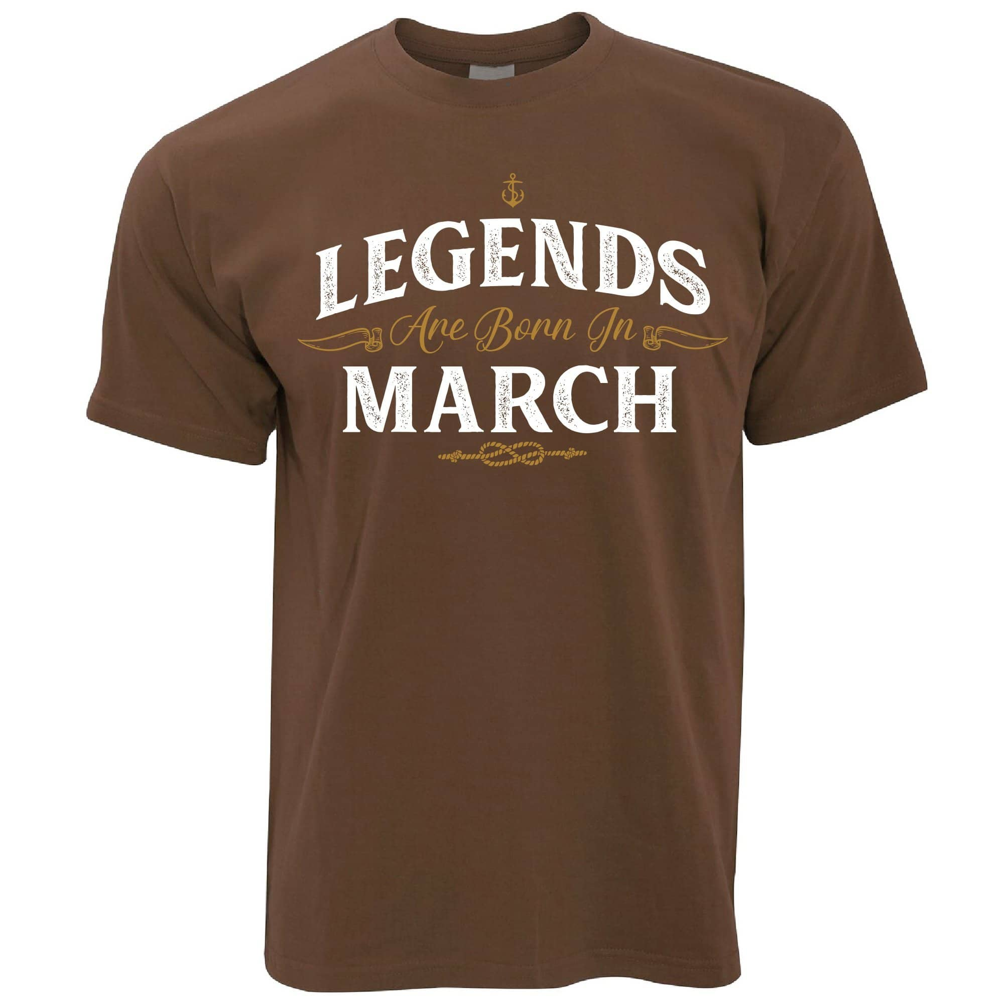 Birthday T Shirt Legends Are Born In March